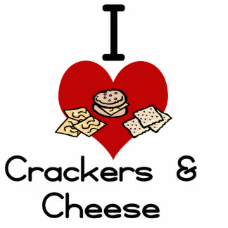 I love-heart crackers & Cheese Photo Sculpture Decoration