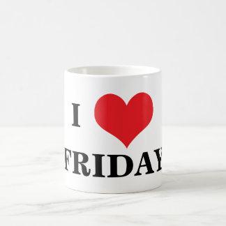 I love heart Friday coffe mug, gift idea