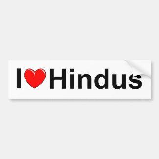 I Love (Heart) Hindus Bumper Sticker
