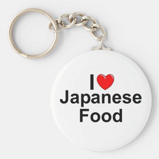 I Love (Heart) Japanese Food Keychain
