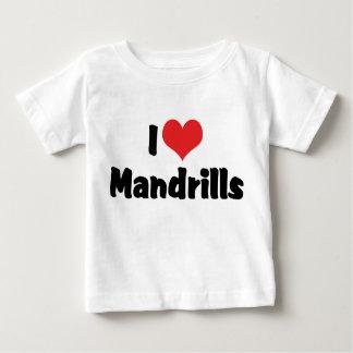 I Love Heart Mandrills Baby T-Shirt