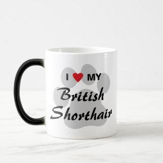 I Love (Heart) My British Shorthair Magic Mug