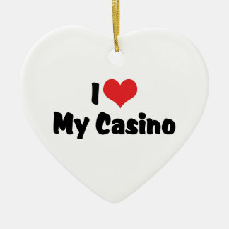I Love Heart My Casino - Las Vegas Gambling Christmas Ornament