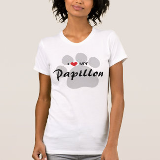 I Love (Heart) My Papillon Dog Lovers Shirt