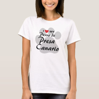I Love (Heart) My Perro de Presa Canario Shirt