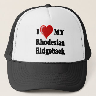 I Love (Heart) My Rhodesian Ridgeback Dog Trucker Hat