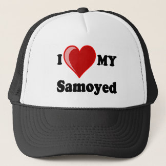 I Love (Heart) My Samoyed Dog Trucker Hat