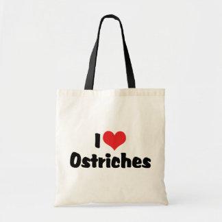 I Love Heart Ostriches - Ostrich Lover Tote Bag