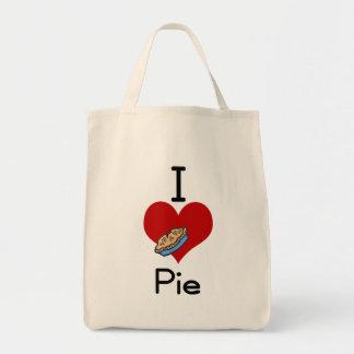 I love-heart pie tote bag