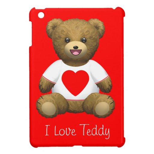 I love heart Teddy Bear iPad Mini Cover