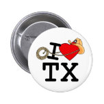 I Love Heart Texas Button