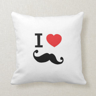 I love heart twirly mustache pillow, cushion