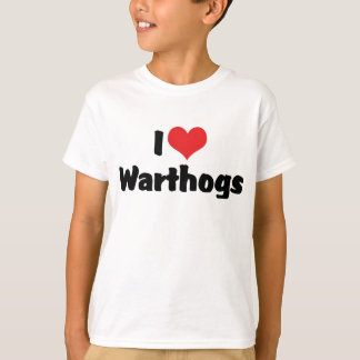 I Love Heart Warthogs T-Shirt
