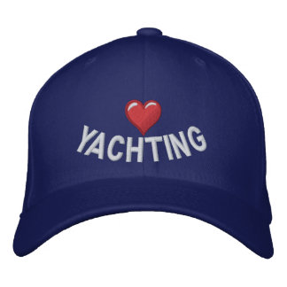 I love heart yachting embroidered hat