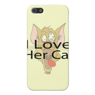 I Love Her Cat black iPhone 5 Covers