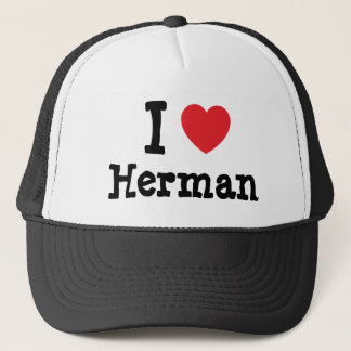 I love Herman heart custom personalized Trucker Hat