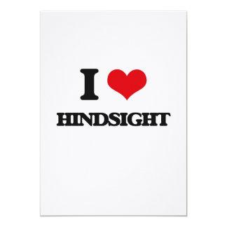 I love Hindsight 13 Cm X 18 Cm Invitation Card