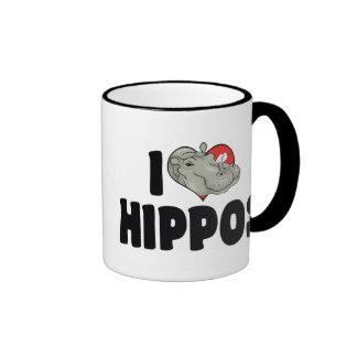 I Love Hippos Coffee Mugs