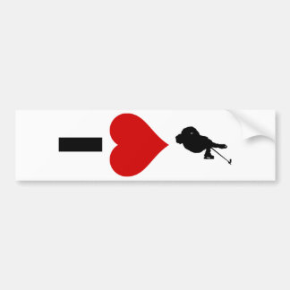 I Love Hockey (Vertical) Bumper Sticker