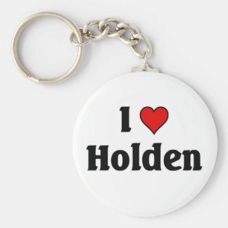 I love Holden Basic Round Button Key Ring