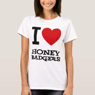 I Love Honey Badgers T-Shirt