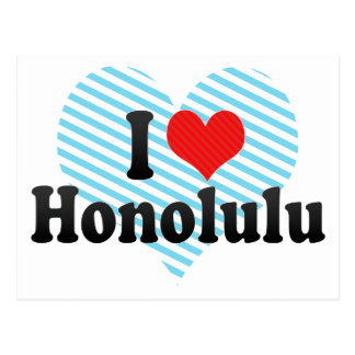 I Love Honolulu Postcard