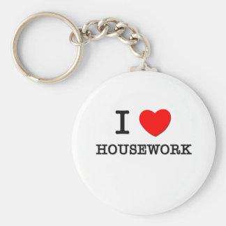 I Love Housework Keychains