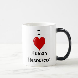 I Love Human Resources - Double sided Magic Mug