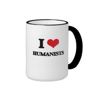 I love Humanists Ringer Coffee Mug