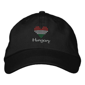 I Love Hungary Cap - Hungarian Heart Flag Hat Embroidered Baseball Cap