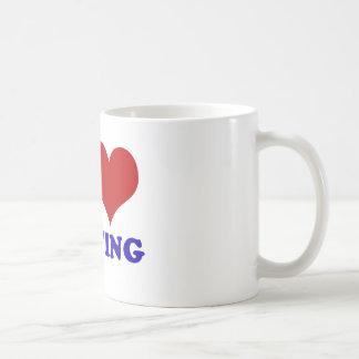I love hunting design basic white mug