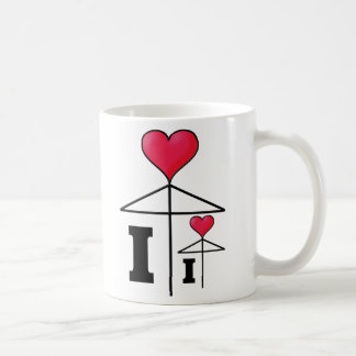 I love (I love ?) Umbrella Basic White Mug
