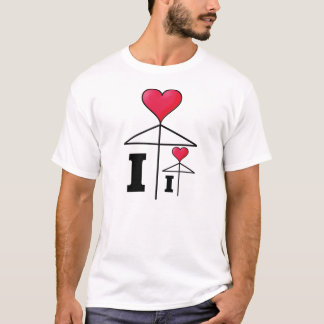 I love (I love ?) Umbrella T-Shirt
