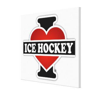 I Love Ice Hockey Canvas Print