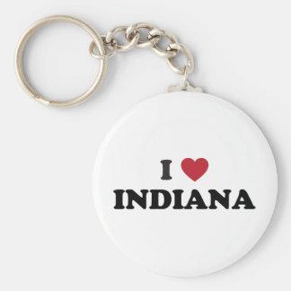 I Love Indiana Key Ring