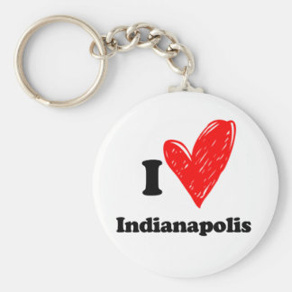 I love Indianapolis Key Ring