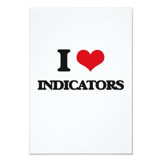 I Love Indicators 9 Cm X 13 Cm Invitation Card