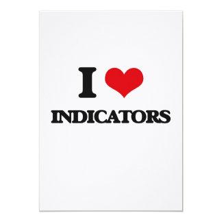 I Love Indicators 13 Cm X 18 Cm Invitation Card