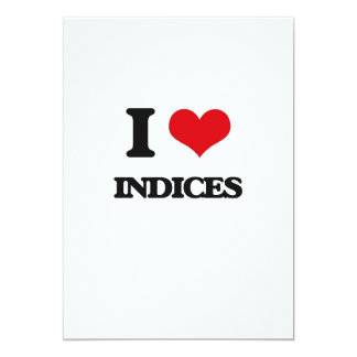 I Love Indices Cards