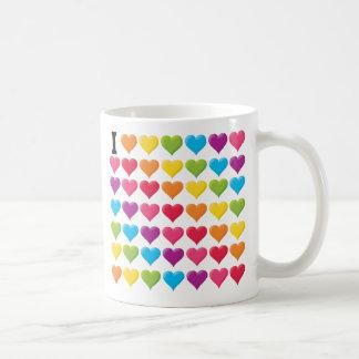 I love (infinity) Rainbow Basic White Mug