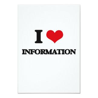 I Love Information 9 Cm X 13 Cm Invitation Card