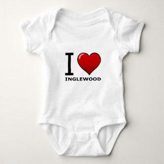 I LOVE INGLEWOOD,CA - CALIFORNIA BABY BODYSUIT