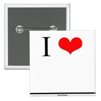 I Love (Insert Name) 15 Cm Square Badge