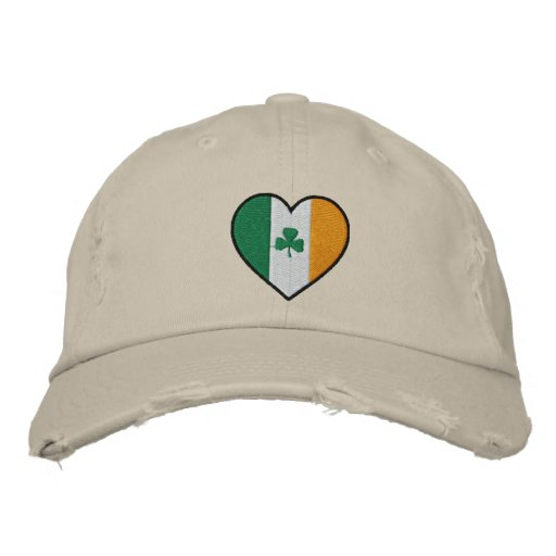 I Love Ireland Embroidered Hat Embroidered Baseball Caps