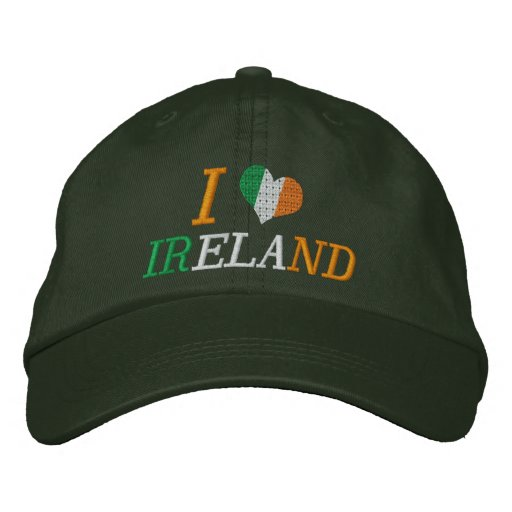 I Love Ireland Embroidered Hat