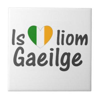 I Love Irish Gaeilge Gaelic Ceramic Tile
