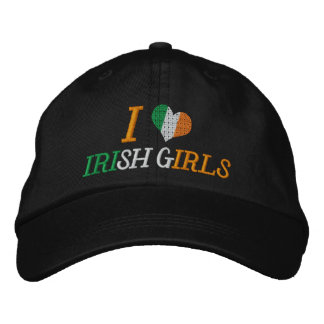 I Love Irish Girls Embroidered Baseball Caps