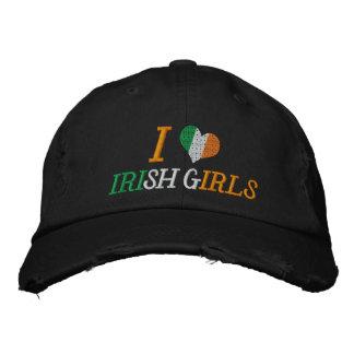 I Love Irish Girls Embroidered Hat