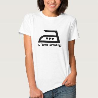 I Love Ironing (3 Hearts) T Shirts