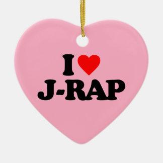 I LOVE J-RAP CHRISTMAS ORNAMENT